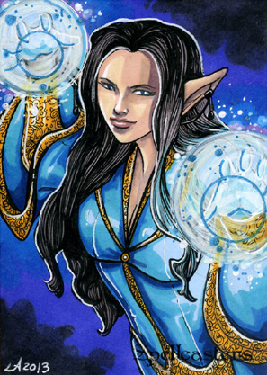 Spellcasters Sketch Card - Lynne Anderson 1