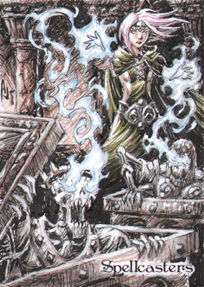 Spellcasters Sketch Card - Anthony Tan 2
