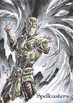 Spellcasters Sketch Card - Anthony Tan 1
