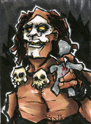 Spellcasters Sketch Card - Matthew J Fletcher 2