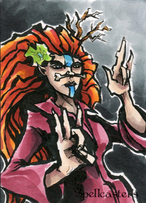 Spellcasters Sketch Card - Matthew J Fletcher 1