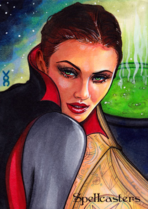 Spellcasters Sketch Card - Veronica O'Connell 1