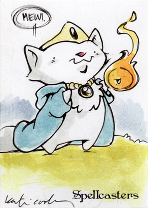 Spellcasters Sketch Card - Katie Cook 1