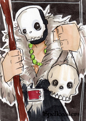 Spellcasters Sketch Card - Chris Uminga 2