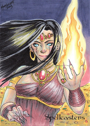 Spellcasters Sketch Card - John Monserrat 2