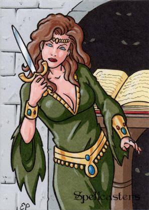 Spellcasters Sketch Card - Elaine Perna 2