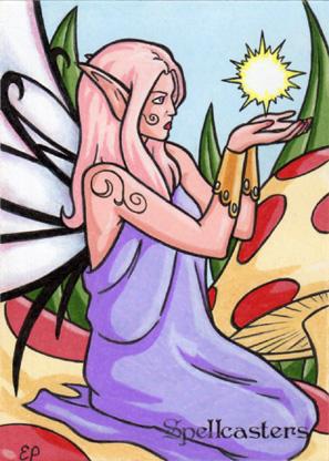 Spellcasters Sketch Card - Elaine Perna 1