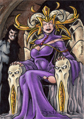 Spellcasters Sketch Card - Tony Perna 2