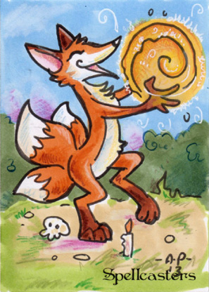 Spellcasters Sketch Card - Amy Pronovost 1