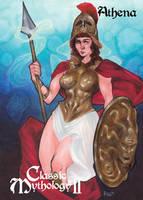 Athena Base Card Art - Patrick Larcada by Pernastudios