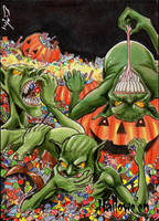 Hallowe'en Sketch Card - Eric McConnell 3 by Pernastudios