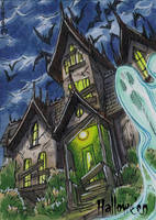 Hallowe'en Sketch Card - Mel Uran 3 by Pernastudios