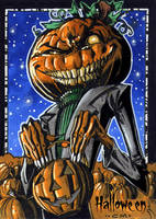 Hallowe'en Sketch Card - Chris Meeks 2