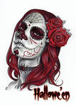 Day of the Dead Art (Red) - Sean Pence