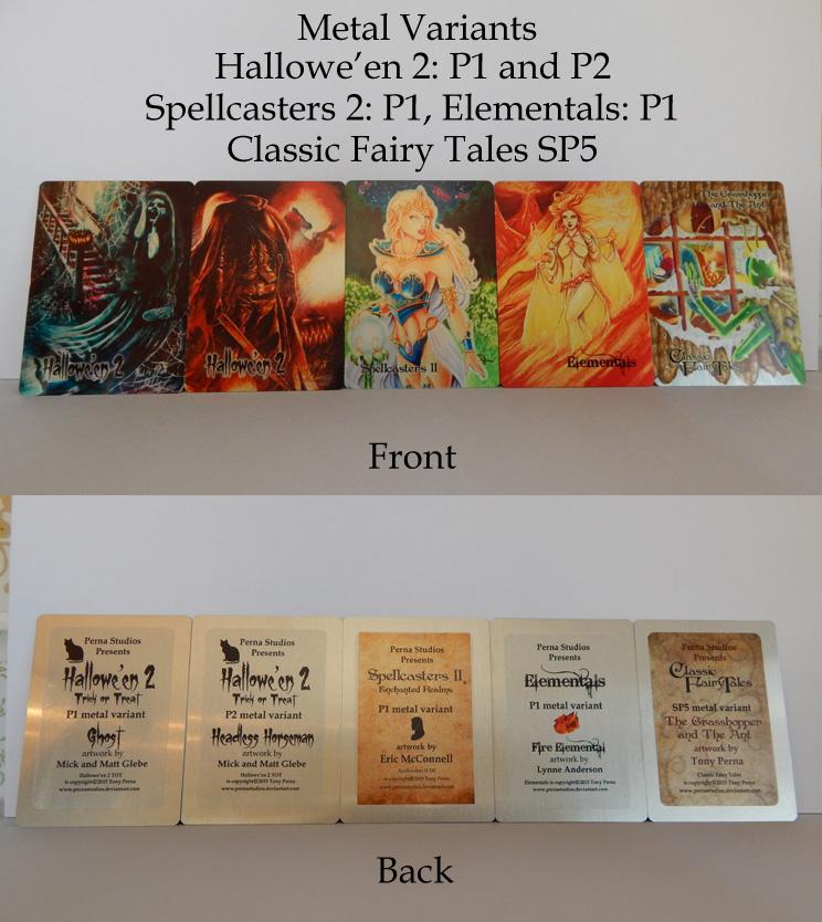 Perna Studios Metal Variant Cards FOR SALE! by Pernastudios