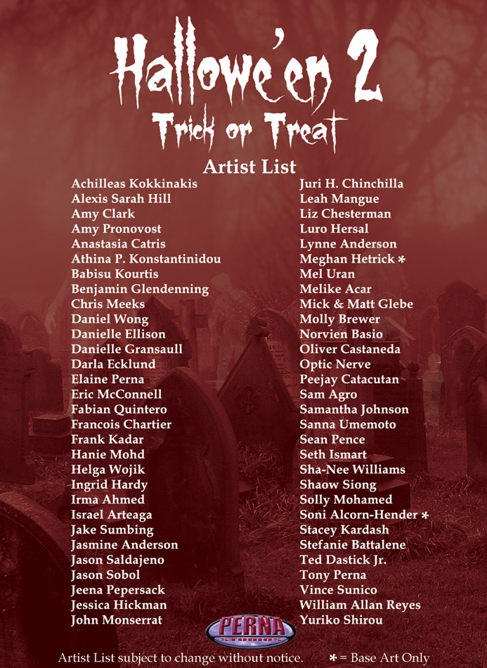 Hallowe' en 2 Artist List by Pernastudios