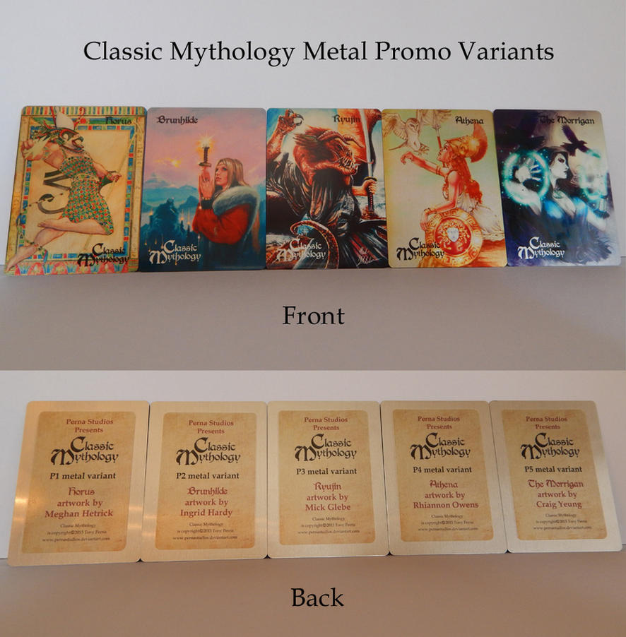 Classic Mythology Promo Metal Variants by Pernastudios
