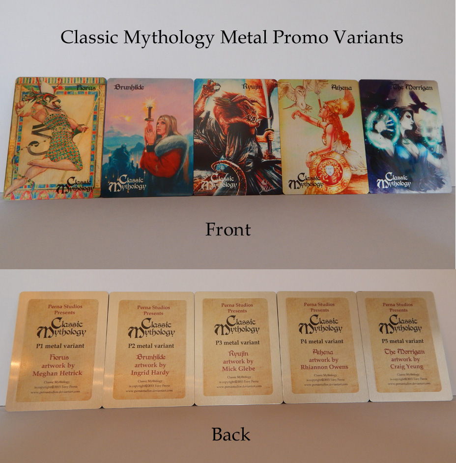 Classic Mythology Promo Metal Variants by Pernastudios