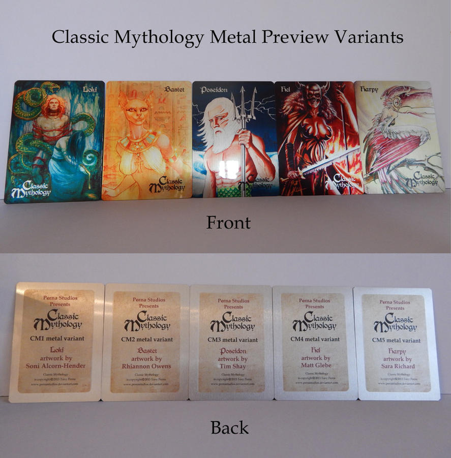 Classic Mythology Preview Metal Variants by Pernastudios