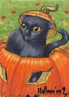 Hallowe'en 2 Sketch Card - Jeena Pepersack 1 by Pernastudios