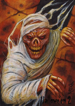 Hallowe'en 2 Sketch Card - Frank A. Kadar 2