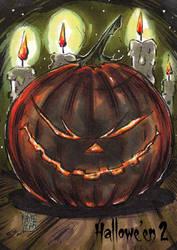 Hallowe'en 2 Sketch Card - Melike Acar 3 by Pernastudios