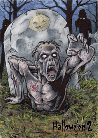 Hallowe'en 2 Sketch Card - Tony Perna 3 by Pernastudios