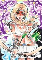 Spellcasters II Sketch Card - Sanna Umemoto 2 by Pernastudios