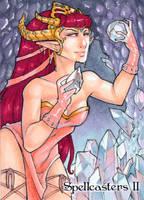 Spellcasters II Sketch Card - Gabrielle Bruer 2 by Pernastudios