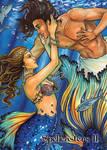 Mermaid Base Card Art by Molly Brewer