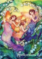 Fairies Chase Card Art by Juri H. Chinchilla by Pernastudios