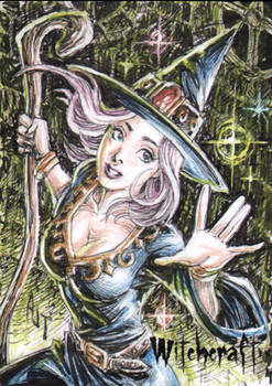 Witchcraft Sketch Card - Anthony Tan 1