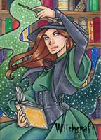Witchcraft Sketch Card - Gabrielle Bruer 1 by Pernastudios