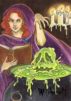 Witchcraft Sketch Card - Molly Brewer 3 by Pernastudios