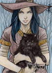 Witchcraft Sketch Card - Andre Toma 2