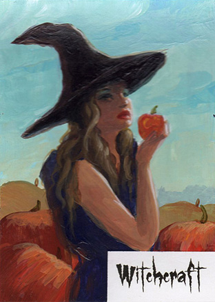 Witchcraft Sketch Card - Ingrid Hardy 3 by Pernastudios