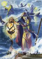 Witchcraft Sketch Card - Liz Chesterman 3 by Pernastudios