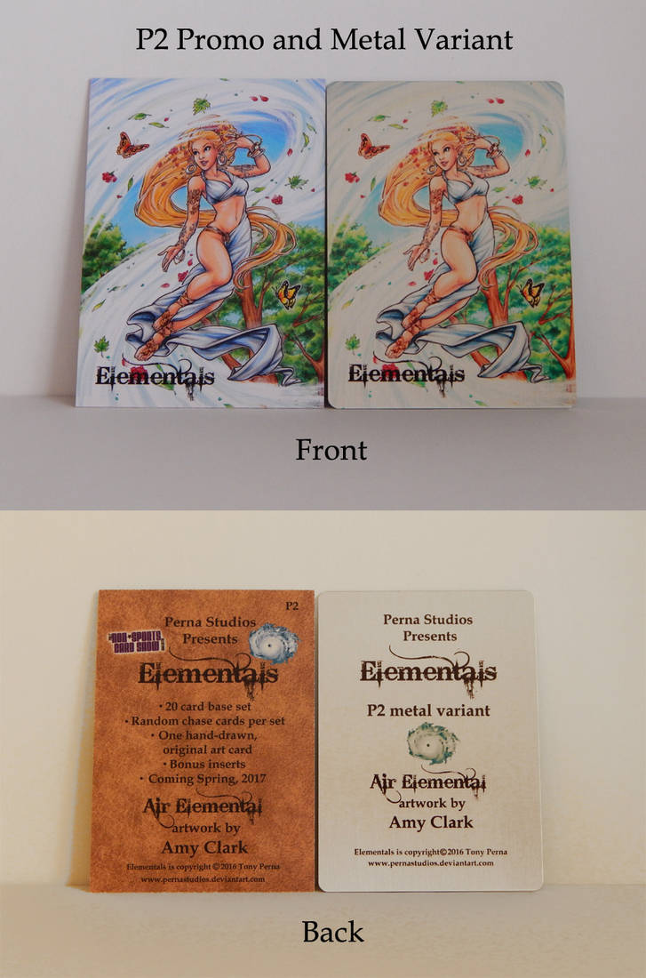 Elementals P2 Promo + Metal Variant - FOR SALE by Pernastudios
