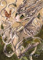 Elementals Sketch Card - Yuriko Shirou 2 by Pernastudios