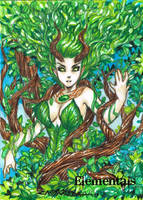Elementals Sketch Card - Oliver Castaneda 1 by Pernastudios