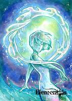Elementals Sketch Card - Hanie Mohd 2 by Pernastudios