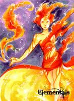 Elementals Sketch Card - Hanie Mohd 1 by Pernastudios