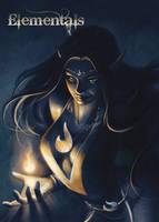 Elementals Fire Chase Card Art by Meghan Hetrick by Pernastudios