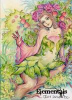 Elementals Sketch Card - Juri H. Chinchilla 1 by Pernastudios