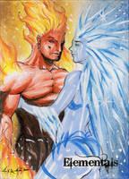 Elementals Sketch Card - Israel Arteaga 2 by Pernastudios