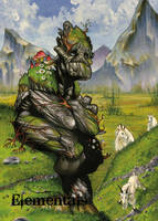 Elementals Earth Base Card Art by Richard Cox by Pernastudios