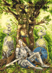 Elementals Earth Base Card Art by Samantha Johnson by Pernastudios