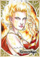 Elementals Sketch Card - Samantha Johnson 2 by Pernastudios