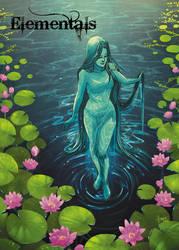 Elementals Water Base Card Art by Hanie Mohd by Pernastudios