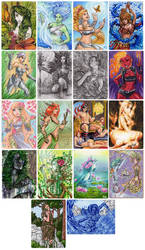 Elementals - Metal Sketch Cards 1 by Pernastudios
